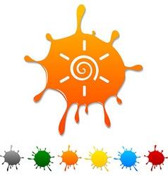 Sun blot vector