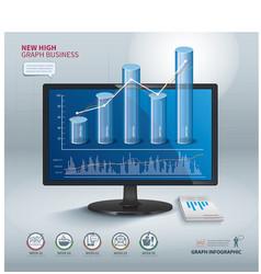 High graph success business vector