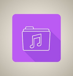 Music folder icon vector