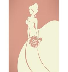 Romantic bride vector