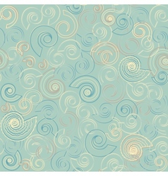 Shells in the water seamless pattern vector