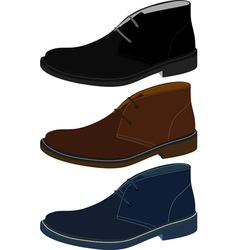 Set of shoes vector