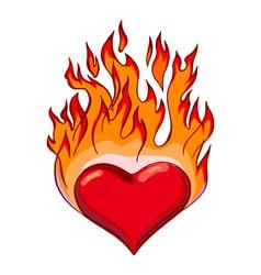 Flaming hearts vector