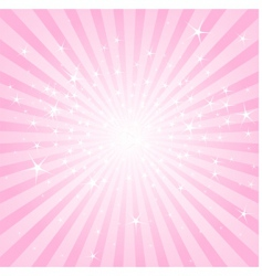 Abstract pink stars and stripes vector
