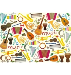 Classical musical instruments pattern vector