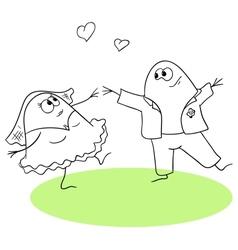 Wedding waltz vector