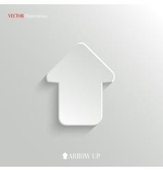 Up arrow icon - web background vector