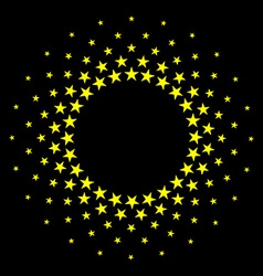 Star circles round frame background vector