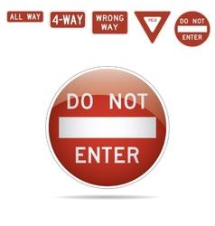 Do not enter traffic signs vector