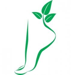 Foot symbol element for design vector