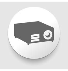 Simple web icon in - projector vector