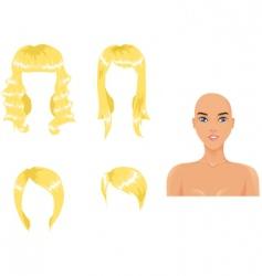 Blond hair vector