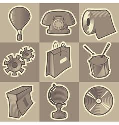 Monochrome miscellaneous icons vector
