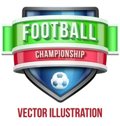 Label for football sport competition bright vector