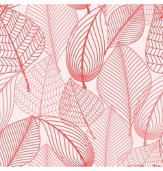Autumn leaves seamless background pattern vector