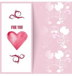 Flyer card with hearts and place for text vector