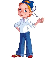 Boy in a cap vector