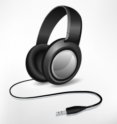 Headphones illustration vector