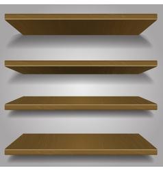 Wood bookshelf design vector