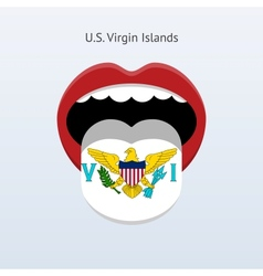 Us virgin islands language vector