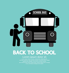 Back to school graphic symbol vector