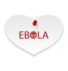 Warning epidemic ebola virus paper memo - vector