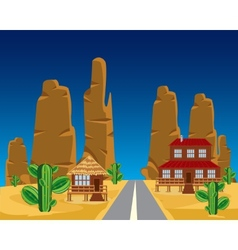 Road in desert vector