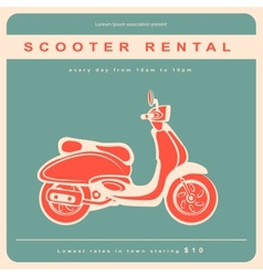 Vintage with a retro scooter vector