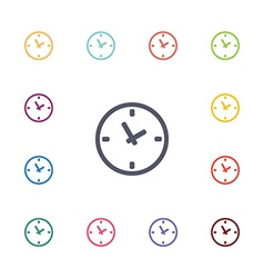 Watch flat icons set vector