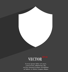 Shield protection icon symbol flat modern web vector