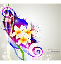 Celebration background with flowers vector