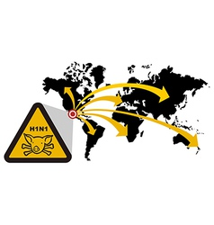 Risk of global epidemic of swine flu vector
