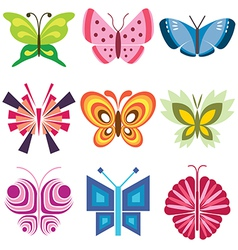 Logo icons butterfly vector