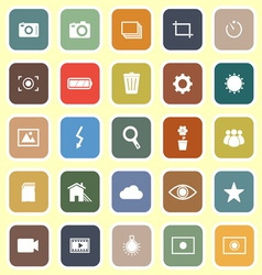 Photography flat icons on light background vector