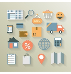 Interface elements for internet ecommerce vector