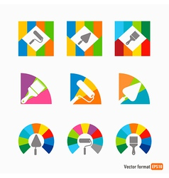 Icon colored instrument vector