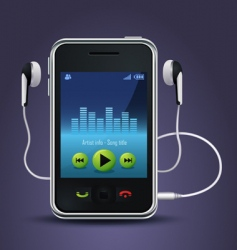 Smart phone music player vector