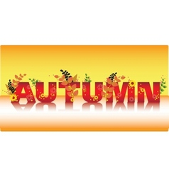 Autumn title sale vector
