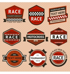 Racing badges set - vintage style vector