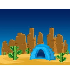 Tent in desert vector
