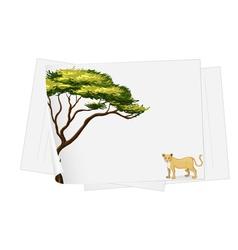 Lion paper template vector