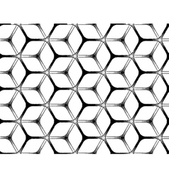 Rough drawing styled futuristic hexagonal seamless vector