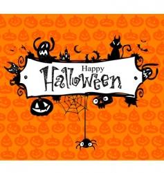 Halloween frame vector