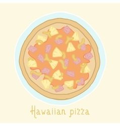 Hawaiian pizza vector