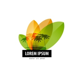 Palm trees logo design template travel or nature vector