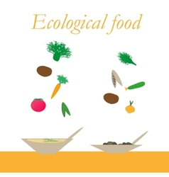 Ecological food from natural products vector