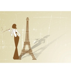 Retro paris vector