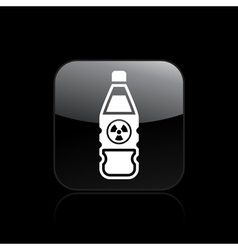 Nuclear bottle icon vector