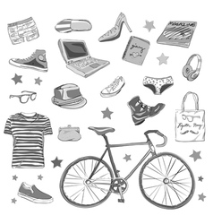 Urban accessories vector