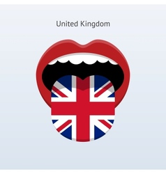 United kingdom language abstract human tongue vector